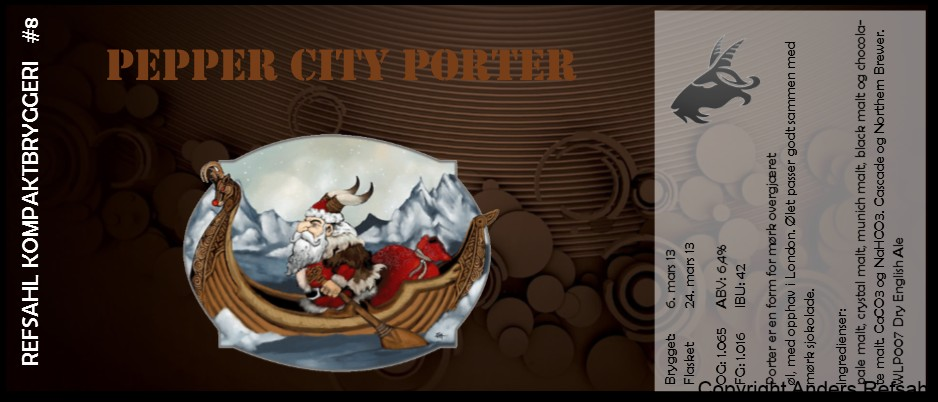RKB #08 Pepper City Porter Juleol