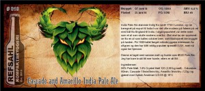 RKB 019 Cascade and Amarillo India Pale Ale
