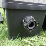 Pumpemotor og aksling montert