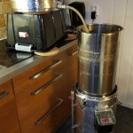 Continuous sparge